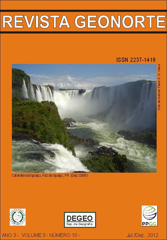 Revista do Departamento de Geografia e do Programa de Pós-Graduação em Geografia da Universidade Federal do Amazonas - UFAM. Boa Leitura.